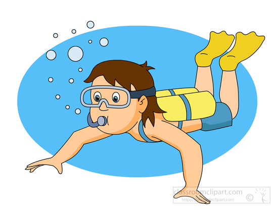 Clipart scuba diving.