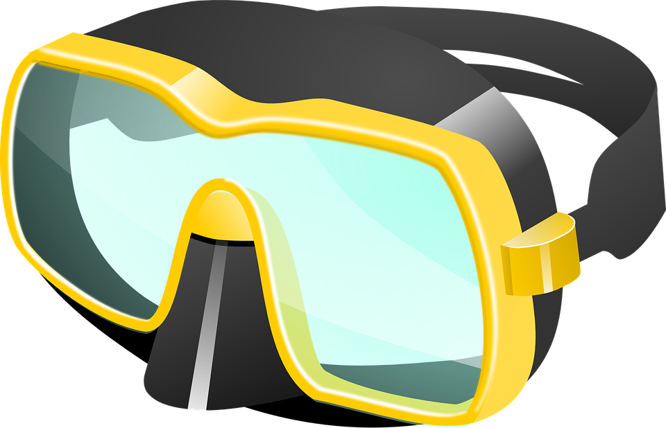 Free vector graphic: Diving Goggles, Diver Eyeglasses.