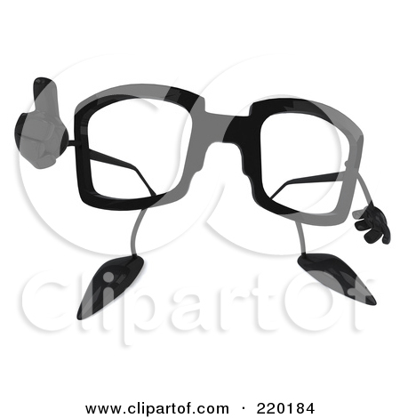 Clipart Pair Of 3d Movie Eye Glasses With Blue And Red Lenses.
