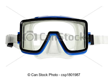 Picture of Diving goggles on white.