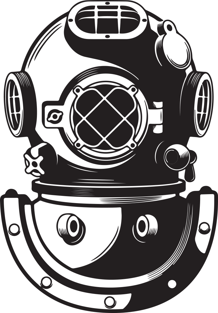 Scuba Drawing Helmet.