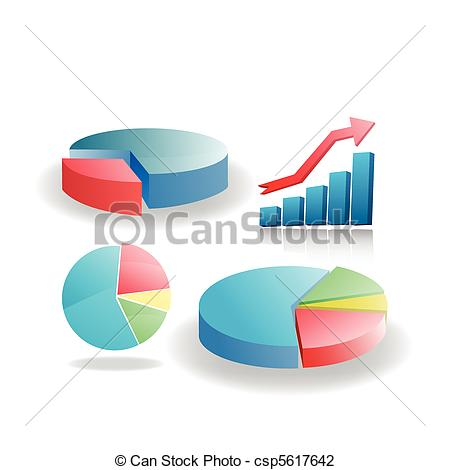 diagrams set clip art.