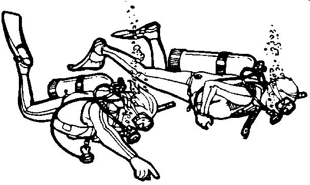 Scuba divers clip art.