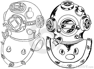Diver Helmet Stock Illustrations.