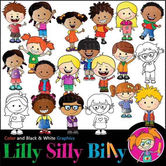 Awesome Kids MEGABUNDLE. Clipart children of diverse nationalities and  personalities. Education graphics for teachers. Commercial Use..