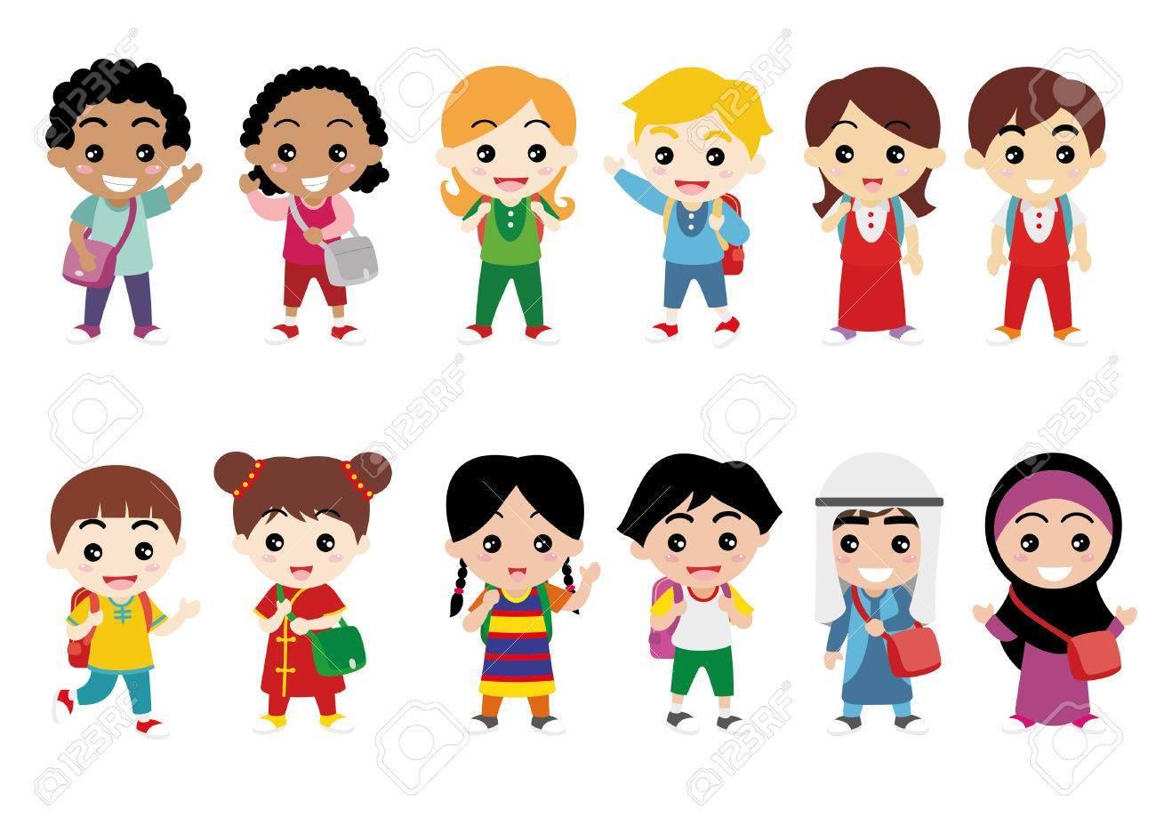 Diverse children clipart 8 » Clipart Portal.
