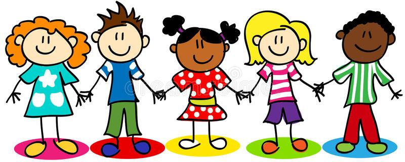 Diversity Kids Stock Illustrations.