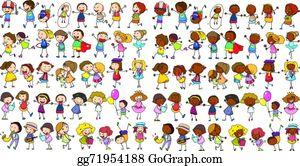 Diverse Family Clip Art.