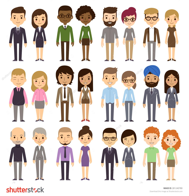 Diversity people clipart.