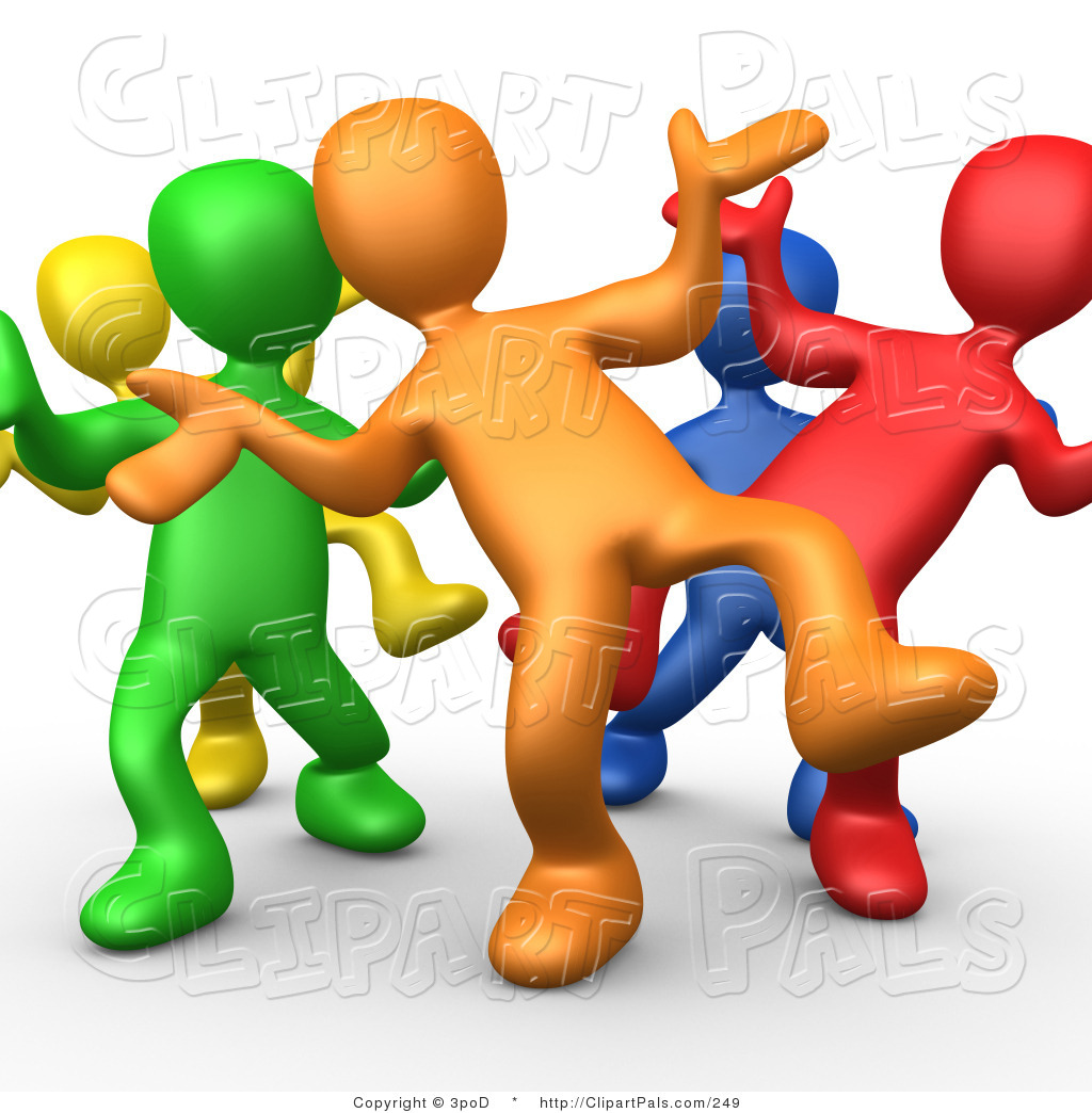 Diverse People Working Together Clipart Free.
