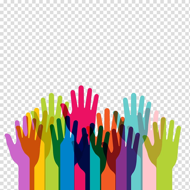 Multicolored human hand , Diversity Inclusion Education.