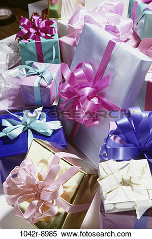 Stock Image of diversity, gifts, presents, surprise, anticipation.