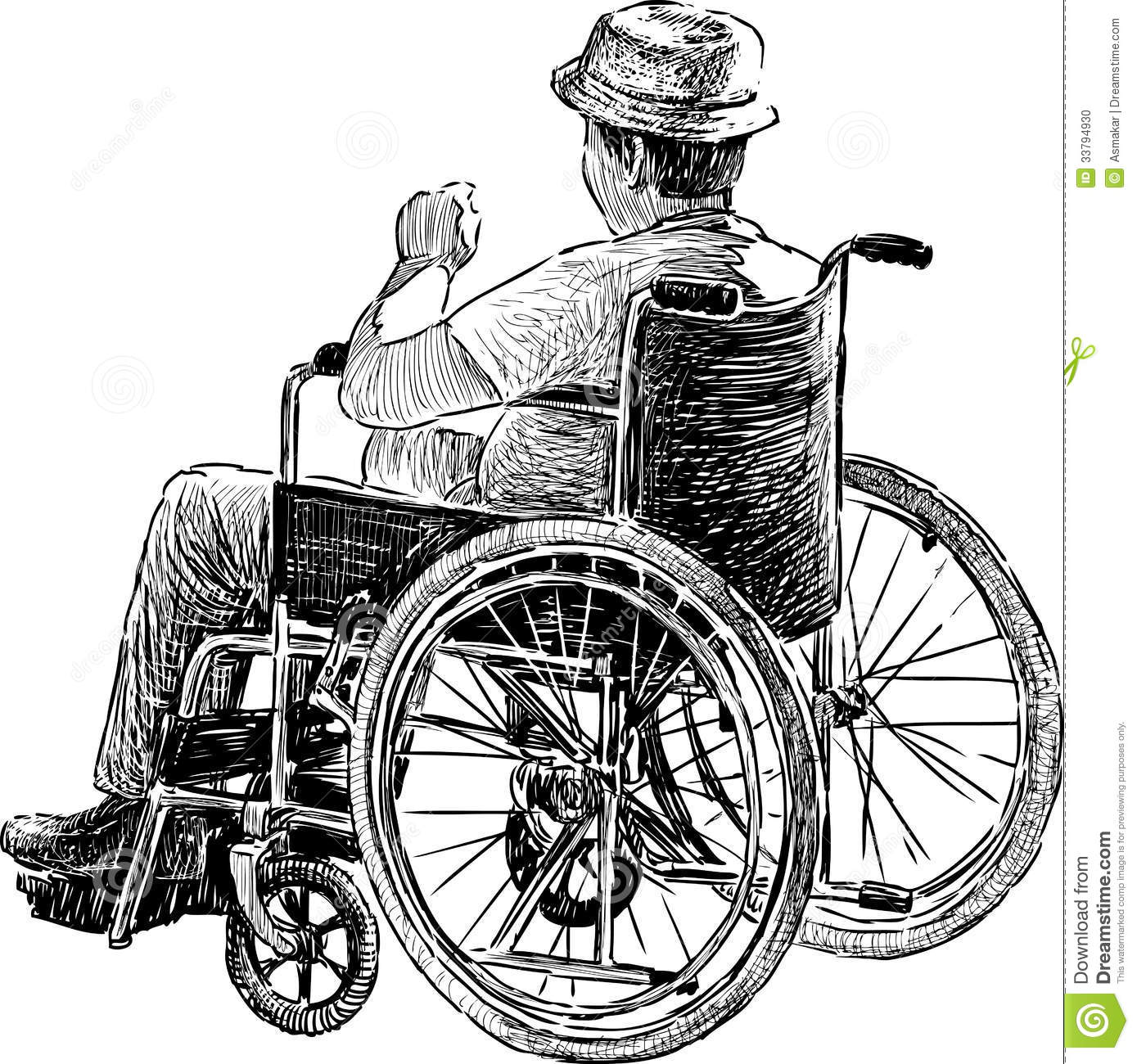 Old Man in Wheelchair.