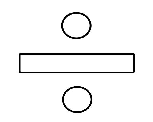 Divide sign clip art.