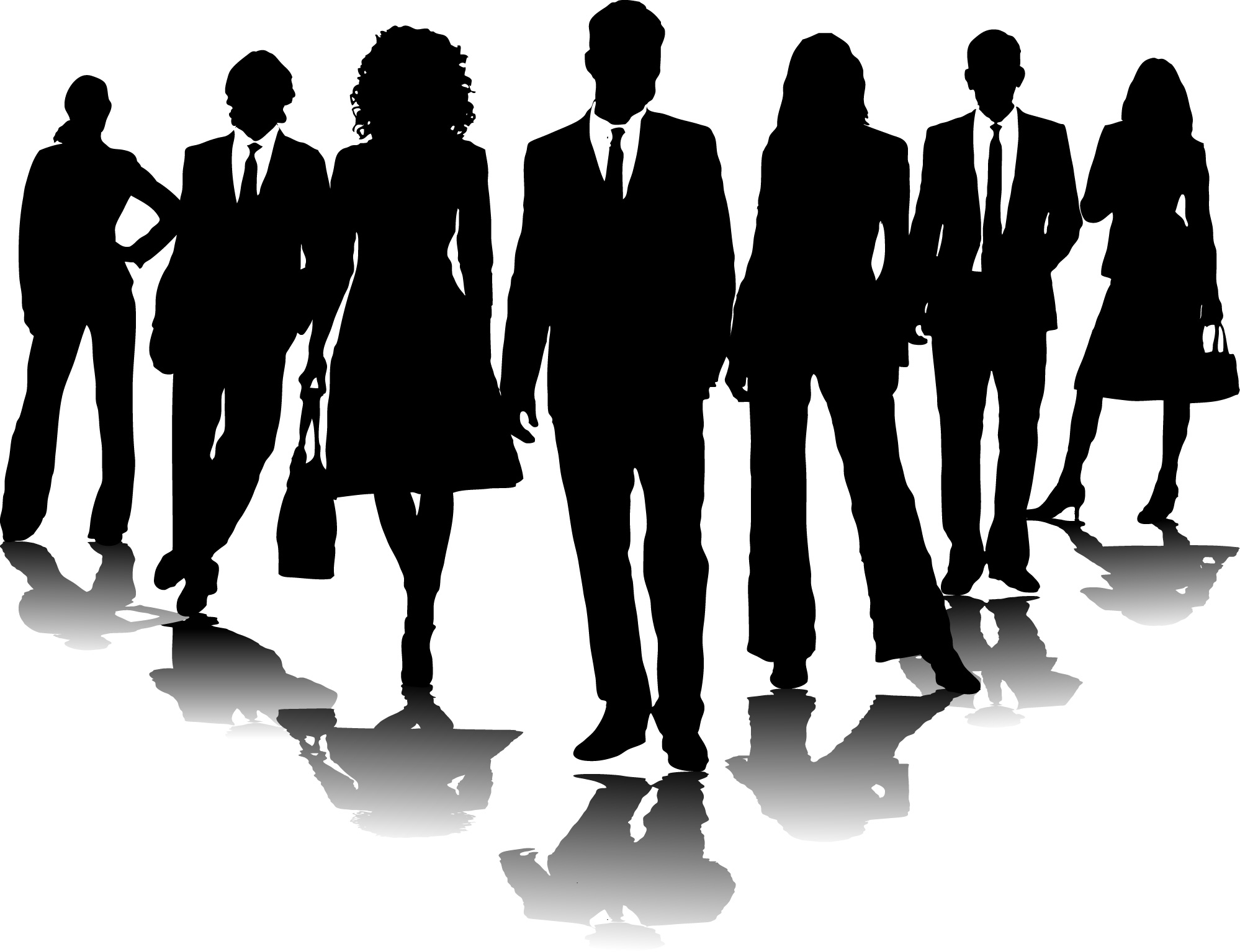 People divided transparent clipart.