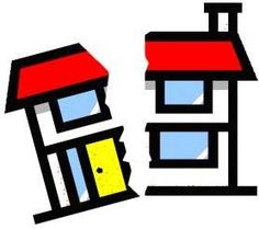 Divided house clipart.