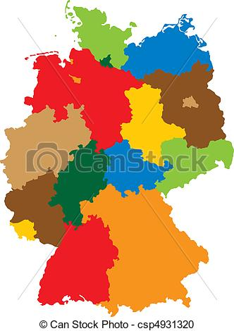 Vector Clipart of States of Germany.
