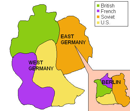 Divided Germany, 1948.