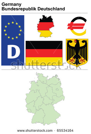 Germany Collection Including Flag, Plate, Map (Administrative.