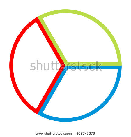 Circle Divided Into Eight Equal Parts Stock Vector 408743914.