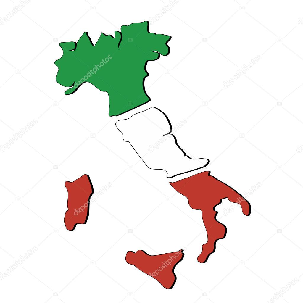 Map of Italy. — Stock Vector © giuliaisabella #18864769.