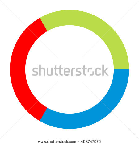 Circle Divided Into 3 Stock Photos, Royalty.