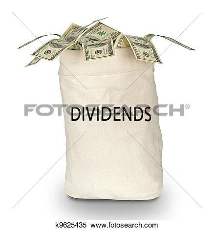 Stock Image of bag of dividends k9625435.