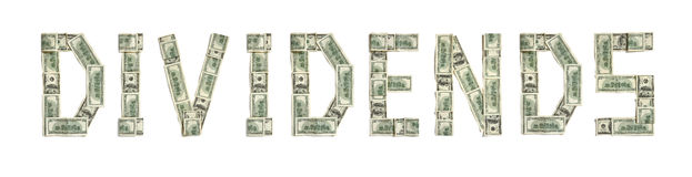 Dividend ,Word Cloud Art Background Stock Illustration.