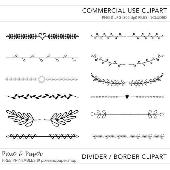 Hand Drawn Border & Divider Clipart.