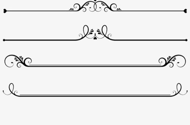 Dividers PNG, Clipart, Black, Divider, Dividers Clipart, Flowers.
