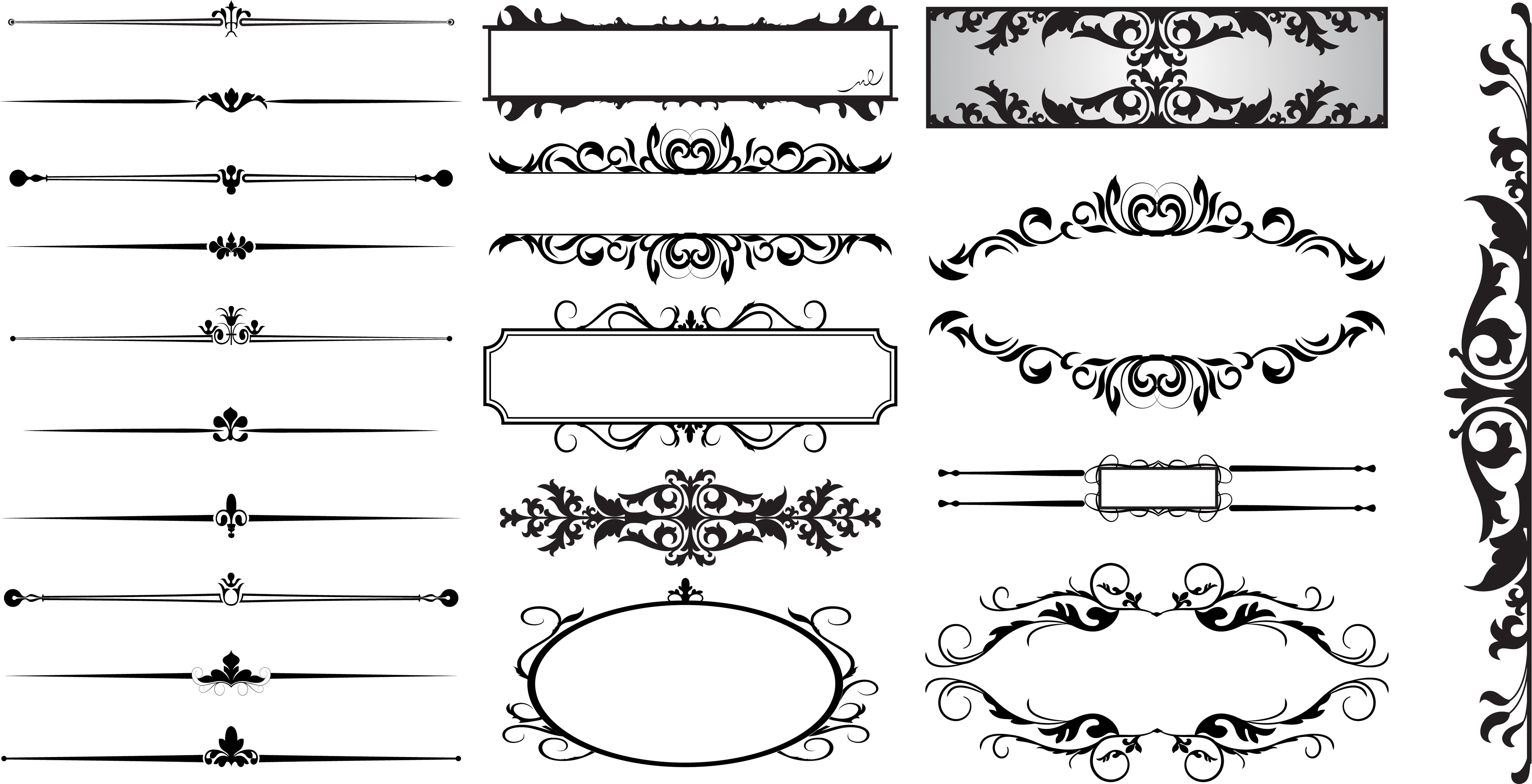 15 Line Dividers Vector Images.