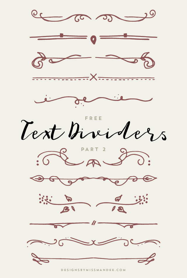 Text Dividers Png (+).