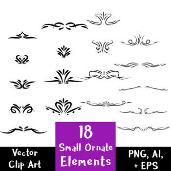18 Small Decorative Elements.