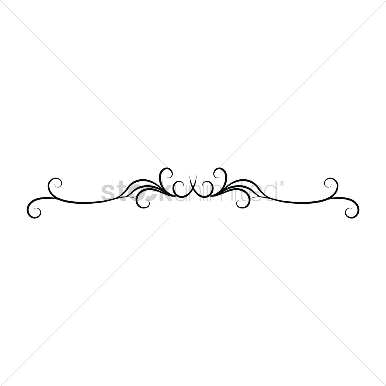 Ornamental divider Vector Image.