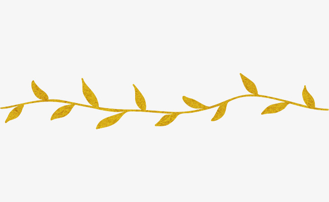 Yellow Leaves Dividing Line, Line Clipart, Dividing Line, Leaves PNG.