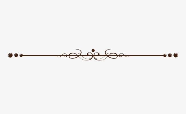 Beautiful Creative Pattern Dividing Line, Line Clipart, Beautiful.