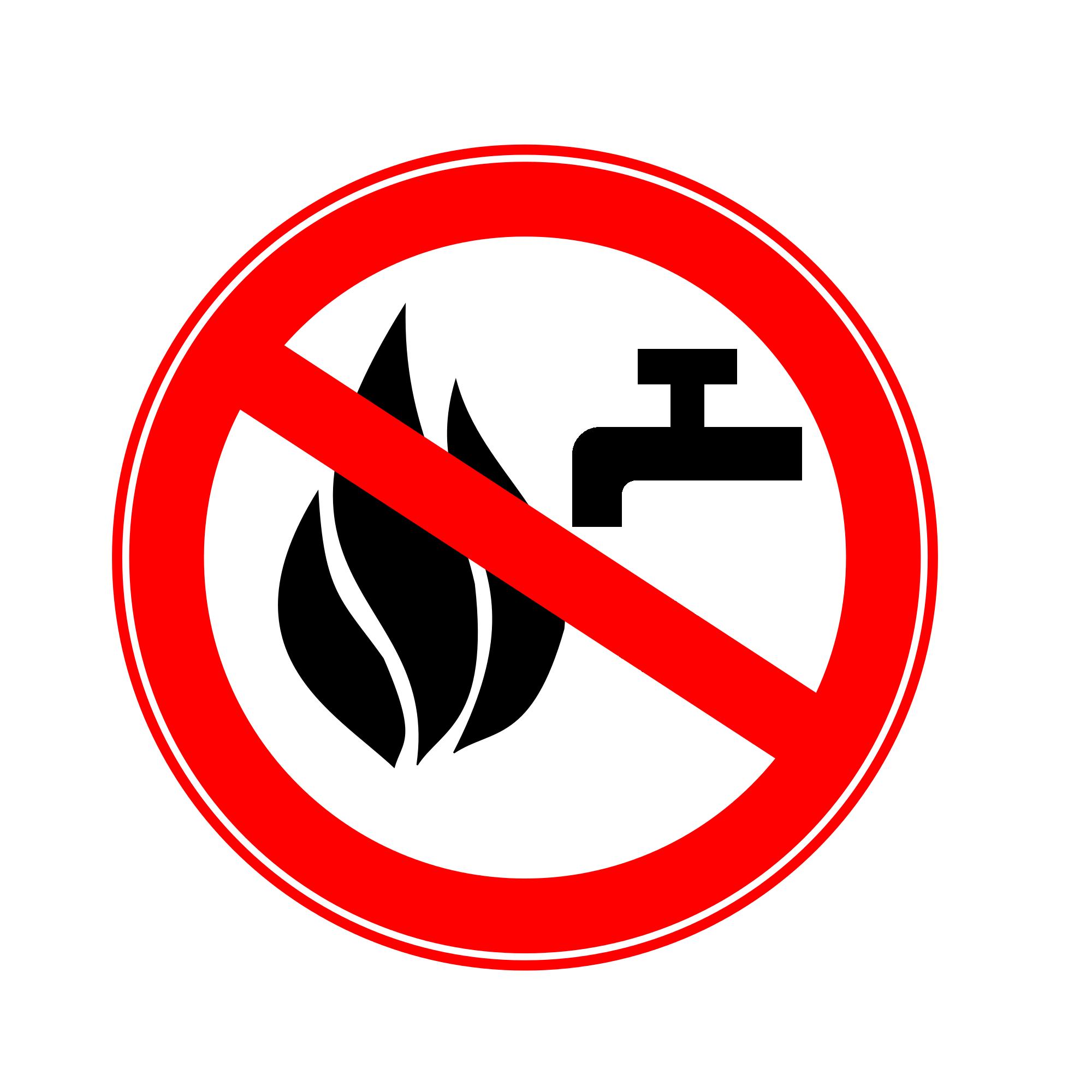 File:Divieto di spegnere l'incendio con acqua.png.