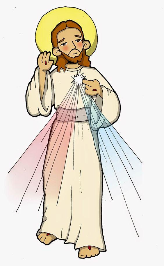 Dibujos para catequesis: JESÚS DIVINA MISERICORDIA.