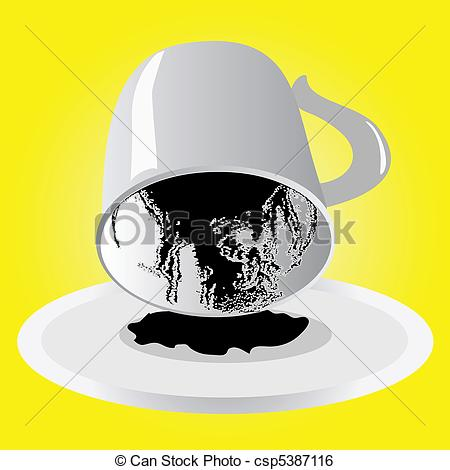Clip Art Vector of Divination from a cup of coffee csp5387116.
