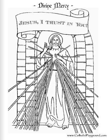 Clip Art of Divine Mercy Chaplet.