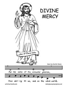 Divine mercy sunday clipart.