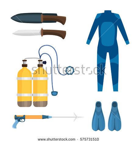 Aqualung Fishing Stock Photos, Royalty.