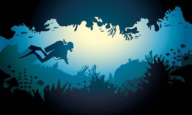 Best Scuba Diving Illustrations, Royalty.