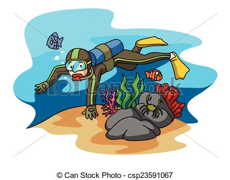 Diving clipart.