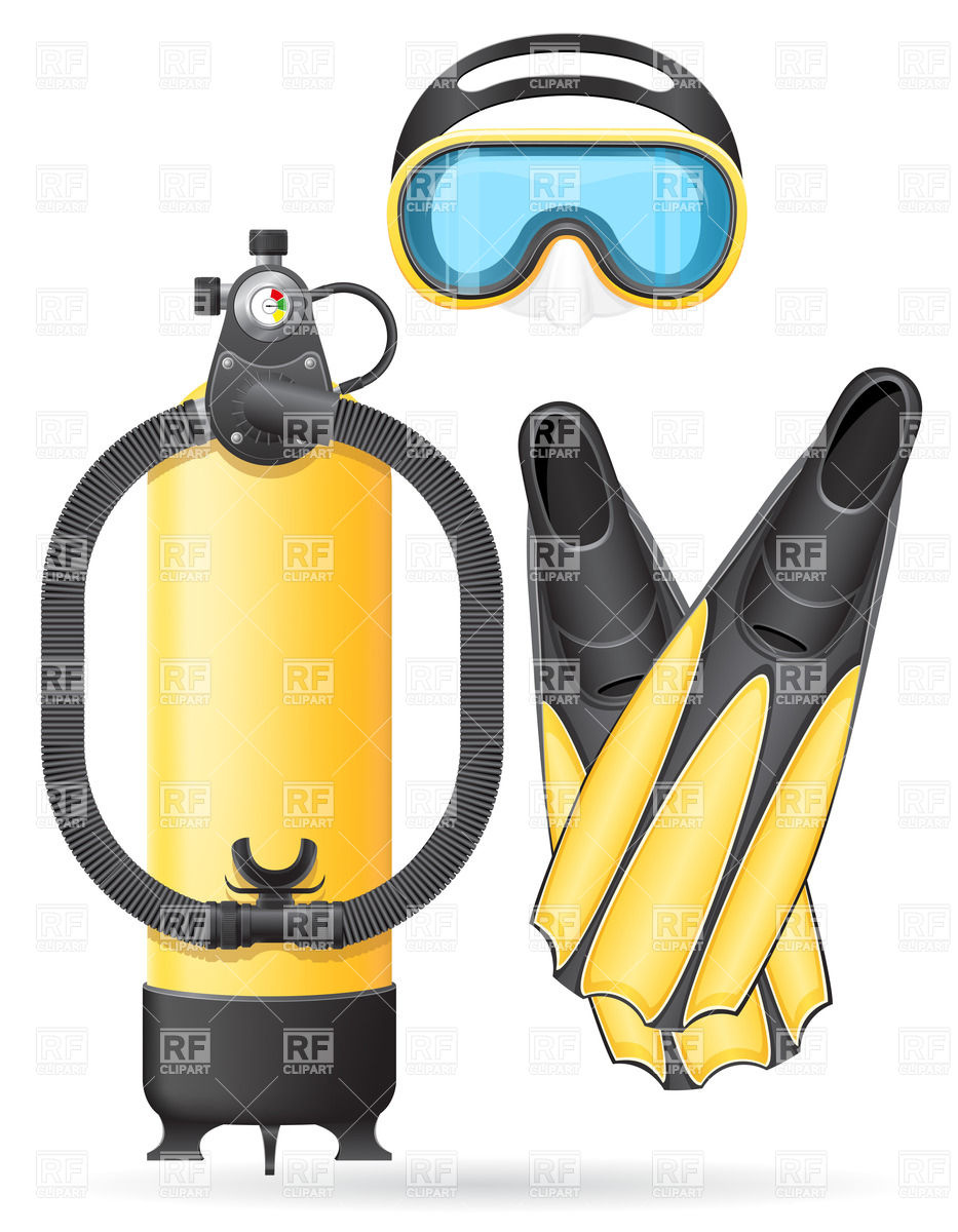 Scuba Equipment Clipart.