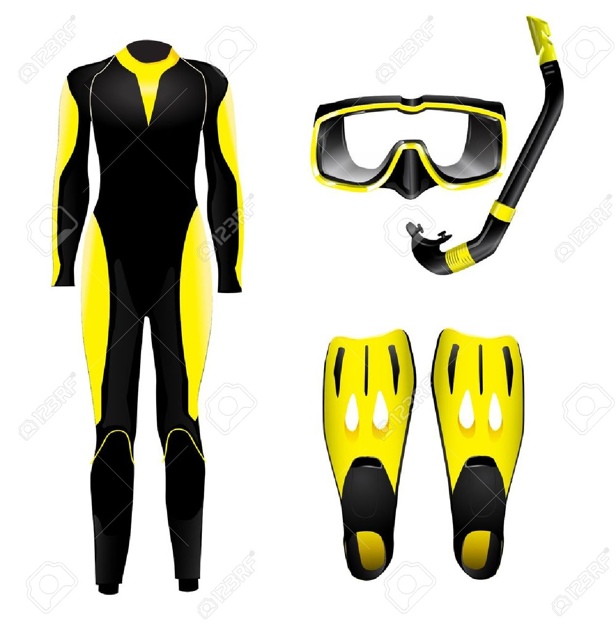 Diving Equipment Royalty Free Cliparts, Vectors, And Stock.