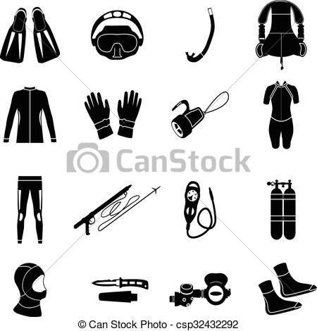 Diving equipment Clip Art Vector Graphics. 3,419 Diving equipment.