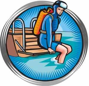 Scuba diving gear clipart.