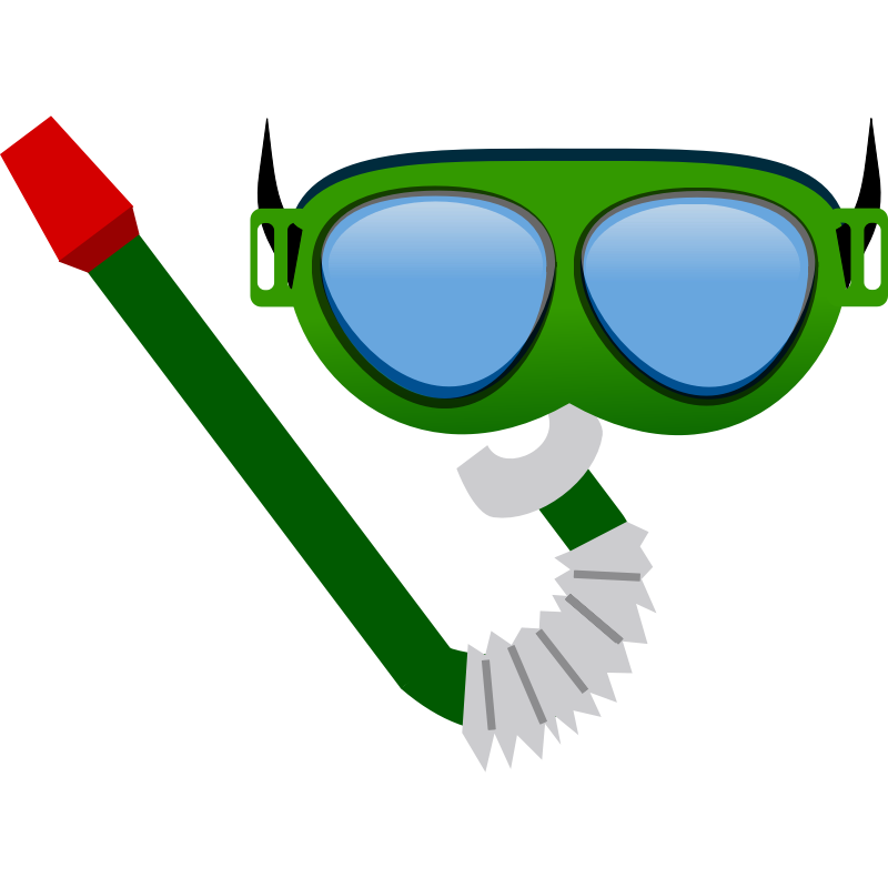 Scuba Diving Goggles Clip Art.