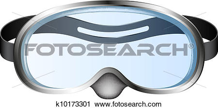 Clipart of Diving goggles k10173301.